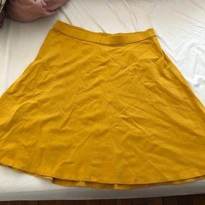 Lane Bryant Mustard Yellow Circle Skirt